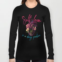 Kelly-Ann Maddox Collection :: Self-Love (Illustrated) Long Sleeve T-shirt