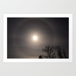 Jupiter in a Moon-halo Art Print