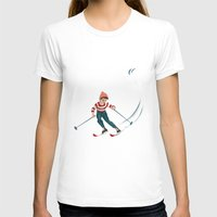 sports T-shirts featuring Sports d'hiver by Vannina