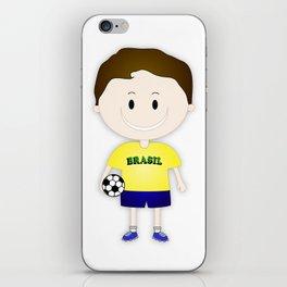 Football Copa Boy Brazil 2014 iPhone Skin