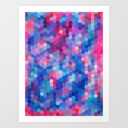 Hexagon Pattern Experiment # 1 Art Print