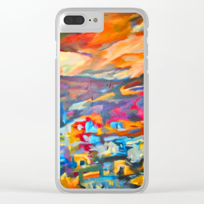 My Village | Colorful Small Mountainy Village Clear iPhone Case