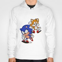 sonic Hoodies featuring Sonic & Tails by Jinny Hinkle