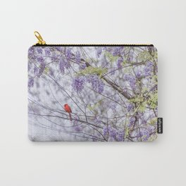 Cardinal and wisteria Carry-All Pouch