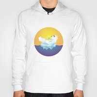 iceland Hoodies featuring Tropical Iceland by Otto Brittain