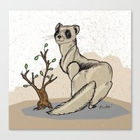ferret Canvas Prints featuring Ferret by Madmi