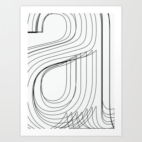 Helvetica Condensed 002 Art Print