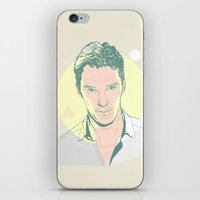 cumberbatch iPhone & iPod Skins featuring Benedict Cumberbatch by chyworks
