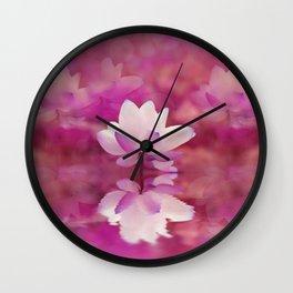 Lotos Pond Wall Clock