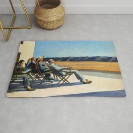 People In The Sun - Edward Hopper Rug