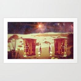 Intergalactic phonecall Art Print