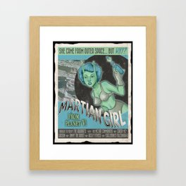 Martian Girl Framed Art Print