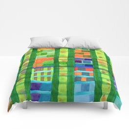 Colored Fields With Bamboo Comforters