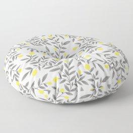 Lemon Pattern - Yellow & Gray  Floor Pillow