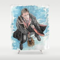 potter Shower Curtains featuring Harry Potter  by Dave Seedhouse.com