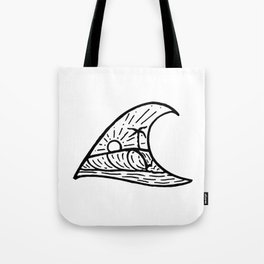 Wave in a Wave Tote Bag