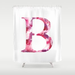 Letterforms B : Bea Shower Curtain
