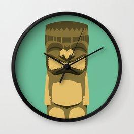 Brown Tiki Wall Clock