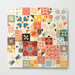 Modern Quilt Pattern Metal Print