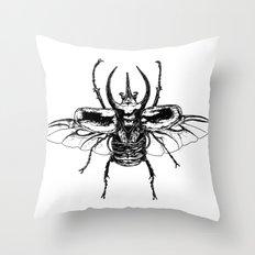 Scarab one Throw Pillow