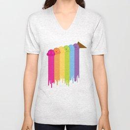 Melting Rainbow Unisex V-Neck