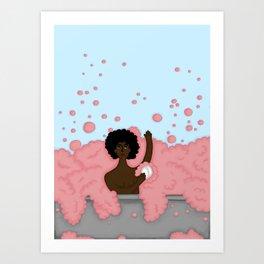 bathing Sam Art Print
