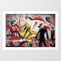 kill bill Art Prints featuring Kill Bill by Joe Badon