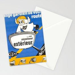 retro poster cipa lange gardien de votre route Stationery Cards