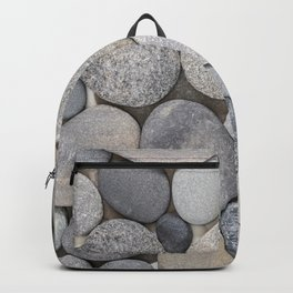 Smooth Grey Pebble Minimalistic Zen  Backpack