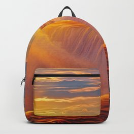 Sunlight waterfall Backpack