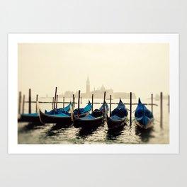 Gondolas in Color Art Print