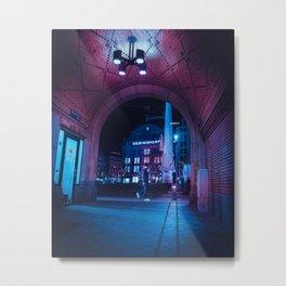 Lonely Nightwalk Metal Print