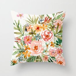 SMELLS LIKE LOVE IN ALL FORMS Floral Throw Pillow