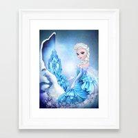 elsa Framed Art Prints featuring ELSA by Annya Kai