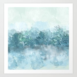 Choppy Blue Ocean Water Art Print