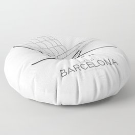 Chairs - A tribute to seats: I'm a Barcelona (poster) Floor Pillow