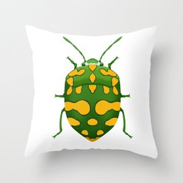 Physic Nut Stink Bug Throw Pillow