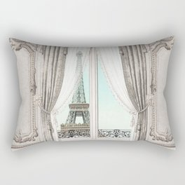 Eiffel Tower room with a view Rectangular Pillow