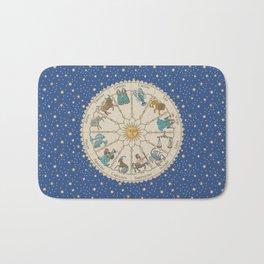 Vintage Astrology Zodiac Wheel Bath Mat
