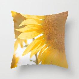 Sunflowers and Sunshine Throw Pillow