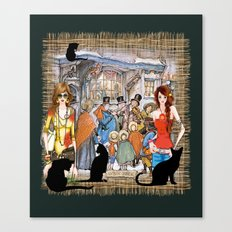 The Carol singers in old Amsterdam Canvas Print