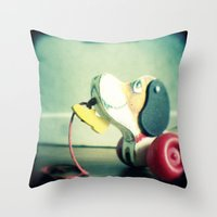 snoopy Throw Pillows featuring Snoopy dog by Gail Griggs