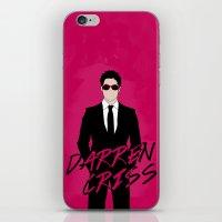 darren criss iPhone & iPod Skins featuring Pink Darren Criss by byebyesally