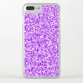 Tiny Spots - White and Violet Clear iPhone Case