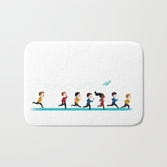Star Trek Into Adorable Bath Mat
