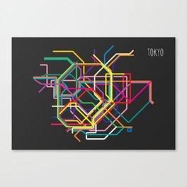 tokyo metro map Canvas Print