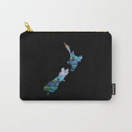 NEW ZEALAND MAP SIMPLE PAUA Carry-All Pouch