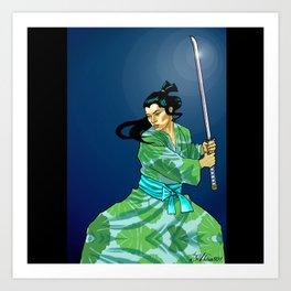 Eternal Samurai I Art Print