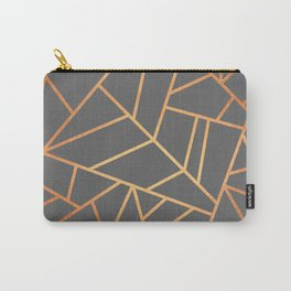 Copper And Grey Carry-All Pouch