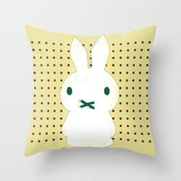 My Lips Are Sealed (Polka Dot Version) Throw Pillow